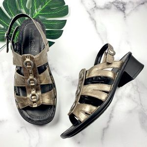 Josef Seibel Bronze Slingback Heeled Sandals